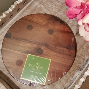 Kate Spade All In Good Taste Dots Cheese Board NWT